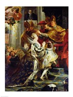 The Medici Cycle: The Coronation of Marie de Medici, detail of the crowning Fine Art Print