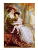 Helene Fourment - with child Fine Art Print