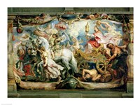 The Triumph of the Church over Fury, Hatred and Discord Fine Art Print