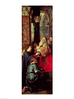 Presentation in the Temple, right panel from the Descent from the Cross triptych by Peter Paul Rubens - various sizes - $16.49