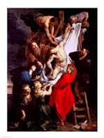 The Descent from the Cross, central panel of the triptych by Peter Paul Rubens - various sizes