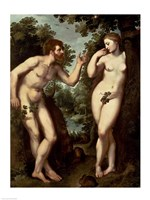 Adam and Eve, c.1599 Fine Art Print