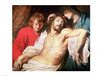 Lament of Christ by the Virgin and St. John Fine Art Print