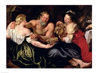 Lot and his daughters by Peter Paul Rubens - various sizes