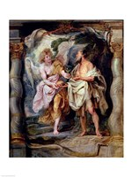 The Prophet Elijah and the Angel in the Wilderness by Peter Paul Rubens - various sizes