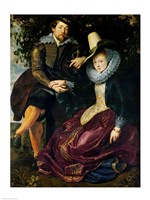 Self portrait with Isabella Brandt by Peter Paul Rubens - various sizes