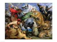 The Tiger Hunt Fine Art Print