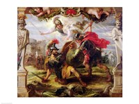 Achilles Defeating Hector Fine Art Print