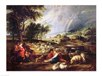Landscape with a Rainbow by Peter Paul Rubens - various sizes