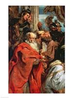 Adoration of the Magi - red garment Fine Art Print