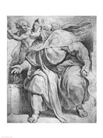 The Prophet Ezekiel, after Michangelo Buonarroti Fine Art Print