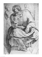The Prophet Jeremiah, after Michangelo Buonarroti by Peter Paul Rubens - various sizes