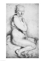 Young nude woman seated by Peter Paul Rubens - various sizes