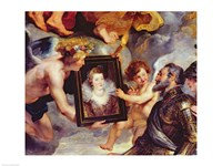 The Medici Cycle: Henri IV  Receiving the Portrait of Marie de Medici by Peter Paul Rubens - various sizes