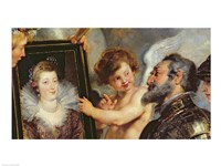 The Medici Cycle: Henri IV  Receiving the Portrait of Marie de Medici detail by Peter Paul Rubens - various sizes