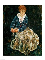 The Artist's wife seated by Egon Schiele - various sizes