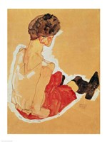 Seated Woman, 1911 by Egon Schiele, 1911 - various sizes