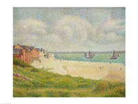 Le Crotoy looking Upstream, 1889 by Georges Seurat, 1889 - various sizes