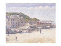 The Harbour and the Quays at Port-en-Bessin, 1888 Fine Art Print