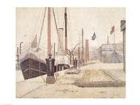 La Maria at Honfleur, 1886 Fine Art Print