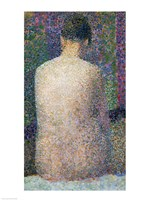 Model from the Back, 1886 by Georges Seurat, 1886 - various sizes