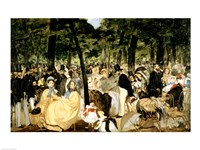 Music in the Tuileries Gardens, 1862 Fine Art Print