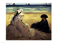 On the Beach, 1873 by Edouard Manet, 1873 - various sizes, FulcrumGallery.com brand