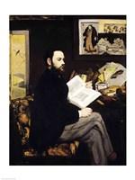 Portrait of Emile Zola Fine Art Print