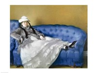 Madame Manet on a Blue Sofa, 1874 by Edouard Manet, 1874 - various sizes