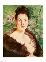 Woman in a fur coat Fine Art Print