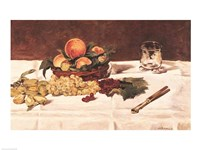 Still Life: Fruit on a Table, 1864 Fine Art Print