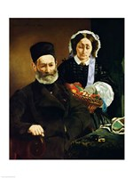 Portrait of Monsieur and Madame Auguste Manet, 1860 by Edouard Manet, 1860 - various sizes