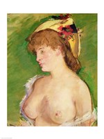 The Blonde with Bare Breasts, 1878 Fine Art Print