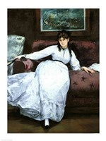 The Rest, portrait of Berthe Morisot by Edouard Manet - various sizes
