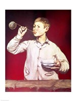Boy Blowing Bubbles by Edouard Manet - various sizes