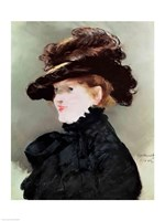 Portrait of Mery Laurent by Edouard Manet - various sizes