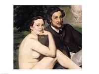 Dejeuner sur l'Herbe, 1863 (seated couple) Fine Art Print
