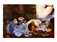 Dejeuner sur l'Herbe, 1863, (fruit basket detail) Fine Art Print