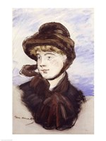 Young Girl in a Brown Hat, 1882 by Edouard Manet, 1882 - various sizes