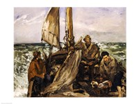 The Workers of the Sea, 1873 Fine Art Print