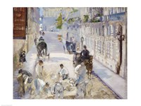 The Rue Mosnier with Workmen, 1878 Fine Art Print