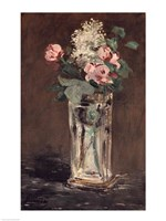 Flowers in a Crystal Vase Fine Art Print