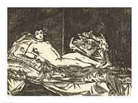 Olympia, 1867 by Edouard Manet, 1867 - various sizes, FulcrumGallery.com brand