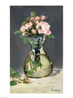Moss Roses in a Vase, 1882 Fine Art Print