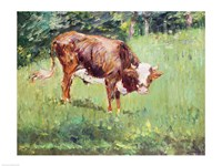 Young Bull in a Meadow, 1881 Fine Art Print