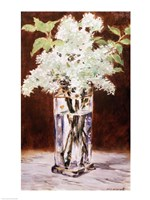 White Lilac in a Crystal Vase, 1882 Fine Art Print
