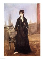 Portrait of Berthe Morisot by Edouard Manet - various sizes, FulcrumGallery.com brand