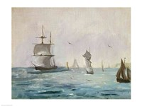 Fishing Boat Arriving, with the Wind Behind, 1864 by Edouard Manet, 1864 - various sizes