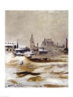 Effect of Snow at Petit-Montrouge, 1870 Fine Art Print
