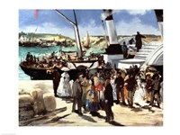 The Departure of the Folkestone Ferry from Boulogne, 1869 Fine Art Print